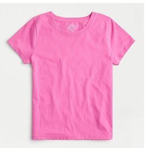 J.Crew Essential Cotton T-shirt Azalea Pink size L